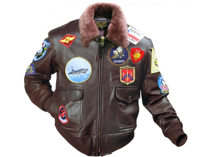 "G1 Top Gun ""MAVERICK"" Jacket (+original patches) - letecká bunda"